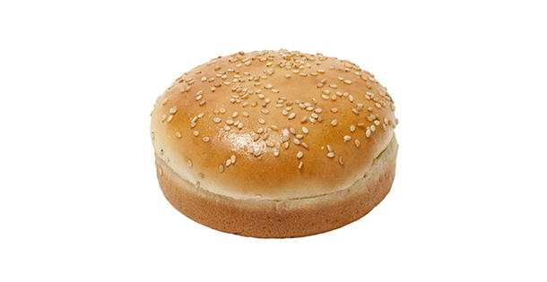 ... sesame seed topped crown give this standard sized burger bun a gourmet