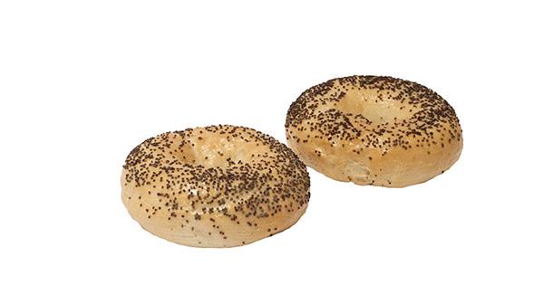 3 25 Poppy Seed Bagel Unsliced 12 Ct Alpha Baking Company Inc